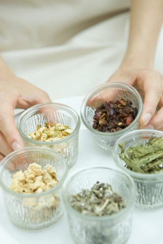 Five kinds of herb tea of jasmine or something