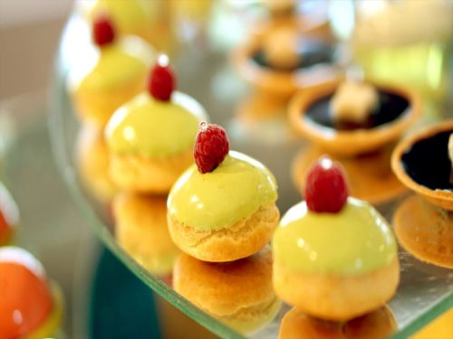 colourful dessert buffet, afternoon high tea